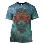 Gearhumans Owl Galaxy Hoodies - T-Shirt Apparel
