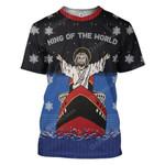 Gearhumans Ugly Christmas Titanic Jesus King Of The World Custom T-Shirts Hoodies Apparel