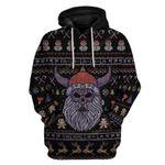 Gearhumans Ugly Viking Christmas Hoodie T-Shirts Apparel