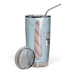 Gearhumans 3D The Office Michael Scott Custom Name Design Vacuum Insulated Tumbler