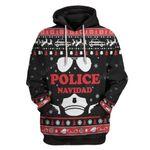 Gearhumans Ugly Christmas Police Navidad Custom T-Shirts Hoodies Apparel