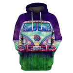 Gearhumans Peace Car Hoodies - T-Shirts Apparel