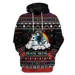 Gearhumans Ugly Sweater Death Metal Hoodie T-Shirts Apparel