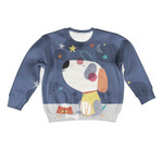 Gearhumans Cute Dog And His Bone Custom Hoodies T-shirt Apparel