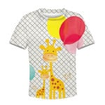 Gearhumans Giraffe with balloon Kid Custom Hoodies T-shirt Apparel