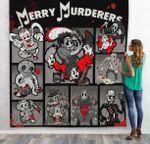 Gearhumans 3D Merry Murderers Custom Quilt Blanket