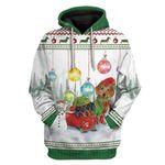Gearhumans Ugly Dachshund Through The Snow Christmas Custom T-Shirts Hoodies Apparel