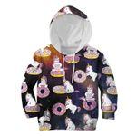Gearhumans Unicorn And Sweet Donut Custom Hoodies T-shirt Apparel