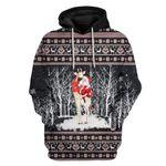 Gearhumans Ugly Giraffe And Santa Custom T-shirt - Hoodies Apparel