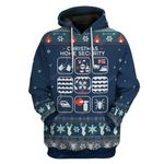Gearhumans Ugly Christmas Home Security Hoodie T-Shirts Apparel