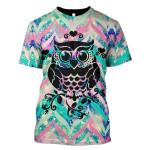 Gearhumans 3d Galaxy Owl Hoodies T-Shirt Apparel