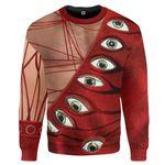 Gearhumans 3D Freddie Mercury Eyeball Suit Custom Sweatshirt Apparel