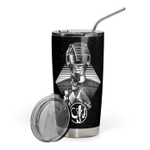 Gearhumans 3D MIGHTY MORPHIN The Black Power Ranger Custom Design Vacuum Insulated Tumbler