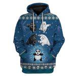Gearhumans Ugly Panda Fusion Christmas Custom T-Shirts Hoodies Apparel