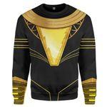 Gearhumans 3D DC Black Adam Costume Custom Sweatshirt Apparel