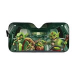 Gearhumans 3D Halloween Goblin Custom Car Auto Sunshade