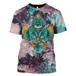 Gearhumans 3d Owl Hoodies -T-Shirt Apparel