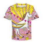 Gearhumans Unicorn with sweet heart Kid Custom Hoodies T-shirt Apparel