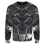 Gearhumans 3D Black Panther Costume Custom Sweatshirt Apparel