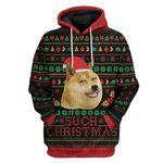 Gearhumans Ugly Christmas Internet Shiba Inu Meme Such Hoodie T-Shirts Apparel