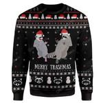 Gearhumans Ugly Garbage Gang Raccoon Merry Trashmas Hoodie T-Shirts Apparel