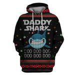 Gearhumans Daddy Shark At Christmas Custom T-shirt - Hoodies Apparel