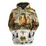 Gearhumans Birds and insects Custom T-shirt - Hoodies Apparel