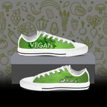 Gearhumans 3D Vegetarian Animal Friends Custom Converse Low Top Shoes