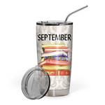 Gearhumans 3D I Love Reading September Custom Design Vacuum Insulated Tumbler