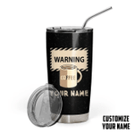 Gearhumans 3D I Will Knock Your Mouth Custom Name Design Vacuum Insulated Tumbler