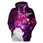 Gearhumans Ice bear wants to conquer the space Custom T-shirt - Hoodies Apparel
