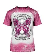 Gearhumans 3D Breast Cancer Awareness For Every Fight Won Custom Bleached Tshirt