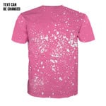 Gearhumans 3D Your Fight Is My Fight Breast Cancer Awareness Butterfly Ribbon Custom Text Bleached Tshirt