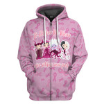 Gearhumans 3D Even Witches Wear Pink Breast Cancer awareness Custom Tshirt Hoodie Apparel