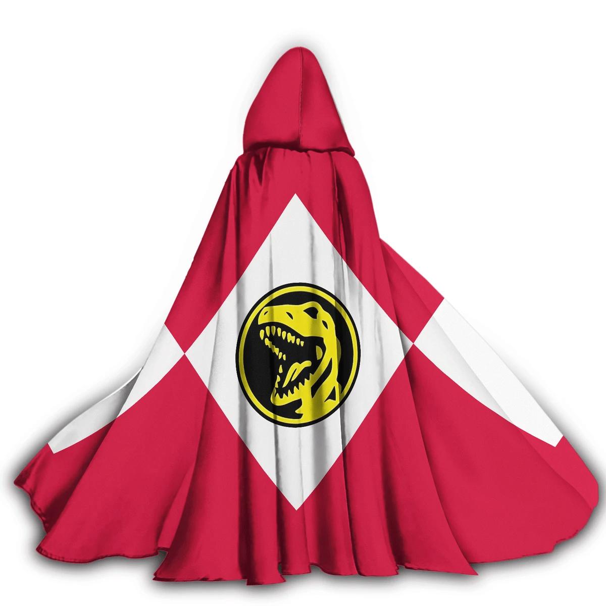Gearhumans 3D Red Ranger Custom Hooded Cloak