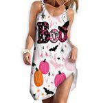 Gearhumans 3D HAPPY HALLOWEEN Breast Cancer Awareness Custom Dress