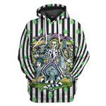 Gearhumans 3D Beetlejuice Stripes and Bugs Custom Hoodie Tshirt Apparel