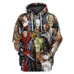 Gearhumans 3D Halloween The Horror Of It All Custom Tshirt Hoodie Apparel