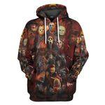 Gearhumans 3D Halloween All Horror Movie Character Custom Tshirt Hoodie Apparel