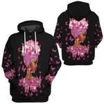 Gearhumans 3D African American Breast Cancer Awareness Custom Hoodie Tshirt Apparel