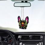 Gearhumans 3D Sugar Skull French Bulldog Custom Car Hanging