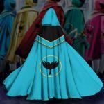 Gearhumans 3D Blue Power Rangers Mystic Force Custom Hooded Cloak