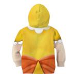 Gearhumans 3D Princess Daisy Custom Kid Hoodie