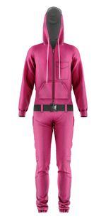 Gearhumans 3D Squid Game Guard Custom Jumpsuit