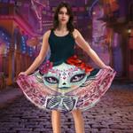 Gearhumans 3D Beautiful Sugar Skull Girl Custom Women Dress