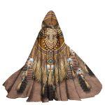 Gearhumans 3D Native American Custom Hooded Cloak