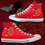 Gearhumans 3D Mick On Fire Custom High Top Converse Shoes