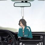 Gearhumans 3D Squid Game Jung Hoyeon Custom Car Hanging