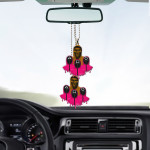 Gearhumans 3D Squid Game The Front Man And Soldier Custom Car Hanging