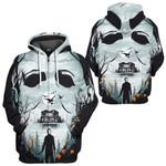 Gearhumans 3D Halloween Michale Myers Custom Tshirt Hoodie Apparel